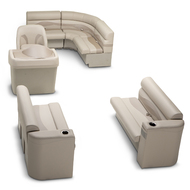 LCI Platinum Rear Entry Pontoon Seating Kit Beige