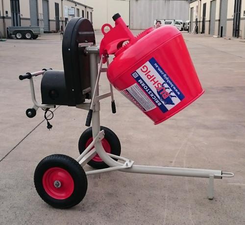 Brickstorm Bushpig 2.3 Cement mixer. (Electric model shown) A TOUGH AS BUSHPIG, NO FRILLS MIXER AT A NO FRILLS PRICE !