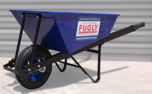 The Original Brickstorm FUGLY Wheelbarrow. Heavy Duty Top Quality Wheelbarrow for Renderers, Bricklayers and Builders.