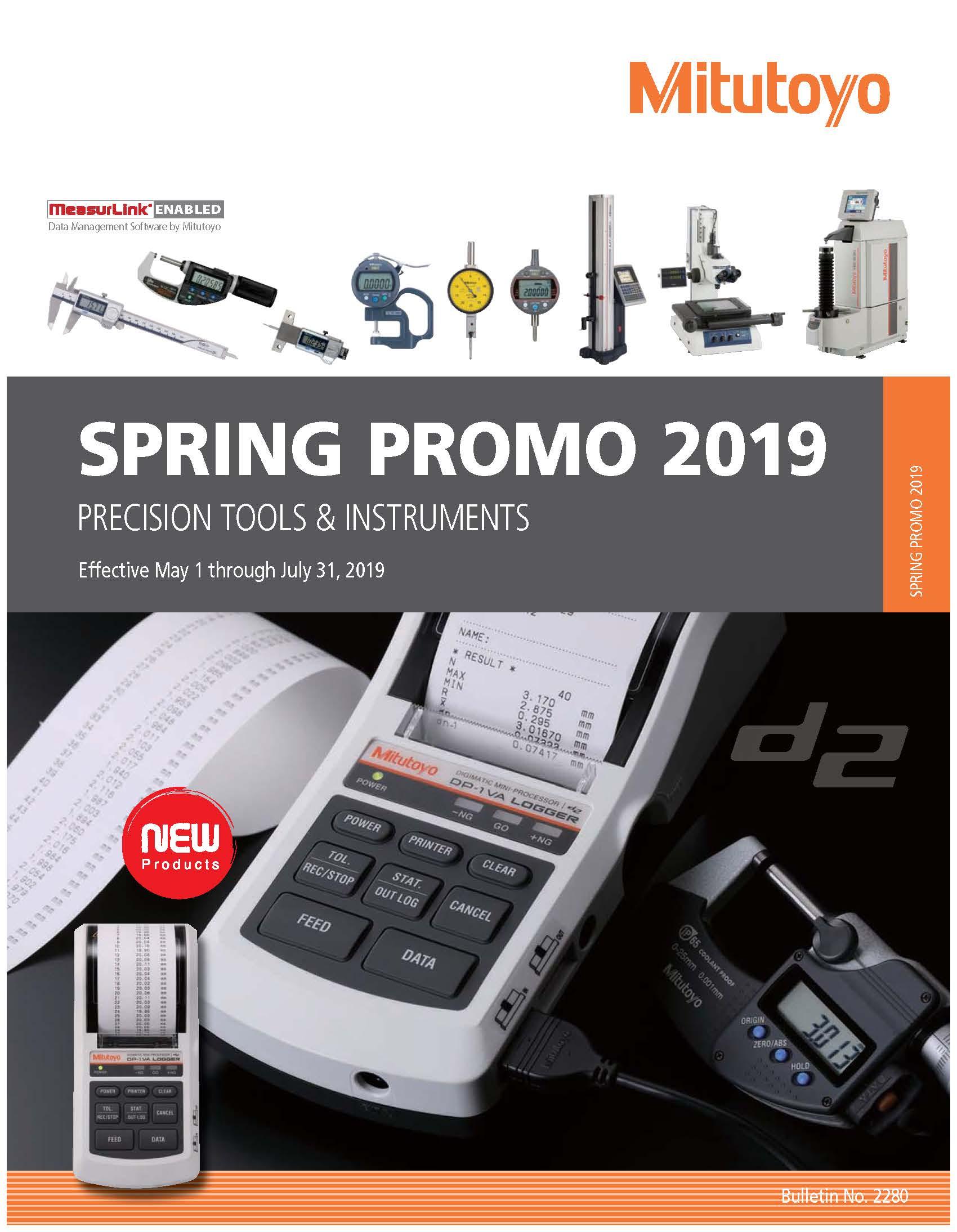 Mitutoyo spring promo 2019
