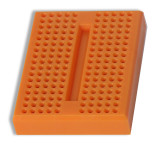 Global Specialties GS-170-3 Solderless Breadboard, 170 Tie-Points, Orange