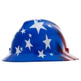 MSA 10071157 Hat, V-Gard, Fas-Trac, Stars & Stripes