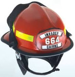MSA 660CFDR Fire Helmet, 660C, Fs, Red, Deluxe