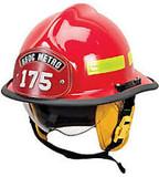 MSA 660CFSR Fire Helmet, 660C, Fs, Red, Std