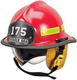 MSA 660DDR Helmet Assy,Std,660 Defender,Red