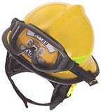 MSA 660DDY Helmet,660 Def,Fire, Yellow, Std