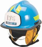 MSA 660DSC Helmet,660 Def,Fire,Blue, Clr, Std