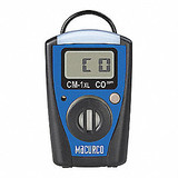 MACURCO CM-1XL Single Gas Monitor, LCD, CO, 3-1/8 in. H,