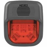 "MACURCO HS-R Horn Strobe Alarm, 4-3/4"" L, 2"" W, LED"