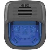 "MACURCO HS-B Horn Strobe Alarm, 4-3/4"" L, 2"" W, LED"
