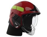MSA GYM1018500000-GL-G Cairns XF1 Fire Helmet, Red