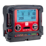 RKI 72-PAB-C GX-3R Pro, gas, LEL / O2 / combo H2S & CO / % CO2 with 100-240 VAC charger
