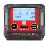RKI Instruments 72-PAX-C-56 GX-3R Pro, 4 gas, LEL / O2 / combo H2S & CO bundled with 34AL cylinder CH4/O2/H2S/CO
