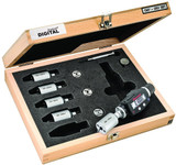 """S770BXTBZ Electronic Internal Micrometer Set, 2-Point Contact (.080-.250"""" (2-6mm) Range) with Bluetooth"""
