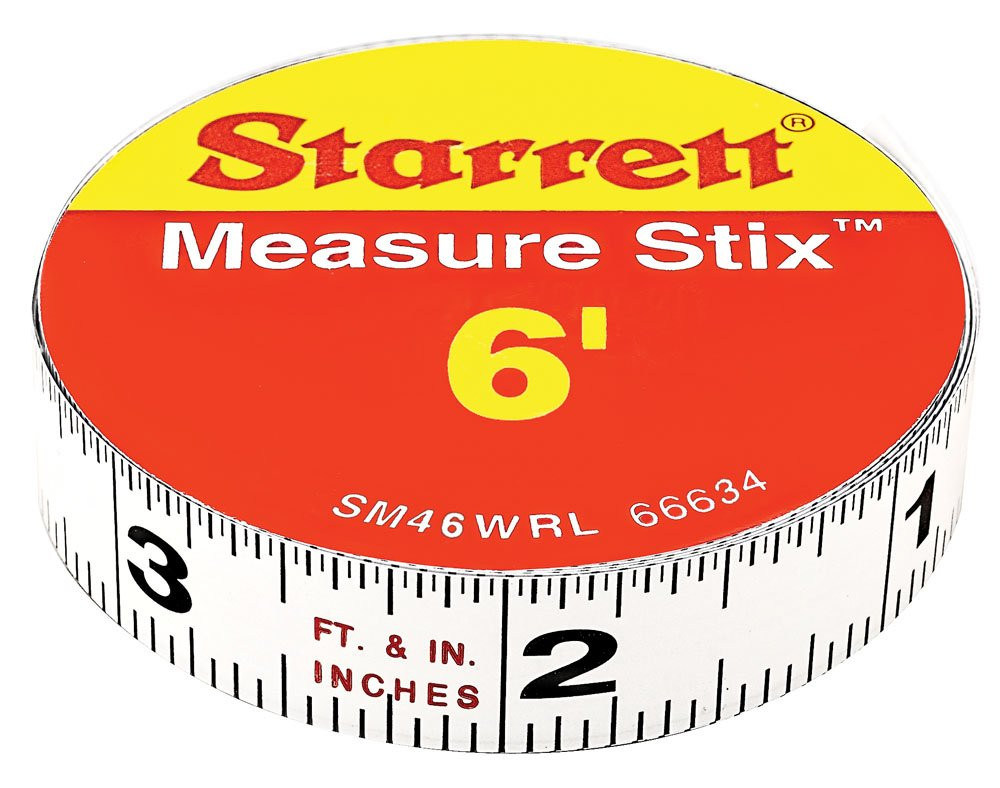 Starrett SM46WRL Measure Stix Permanent Adhesive Back Tape 1//2 x 6
