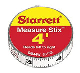 "L.S. STARRETT SM412W 1/2"" x 12' Measure Stix Tape W/ Adhesive Backing 1/EA"