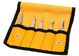 Aven 18473 5-Piece Tweezer Set