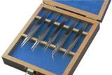 Aven 18476USA 5 Piece Technik Precision Tweezer Set, Stainless Steel