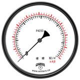 """Winters. LOW PRESSURE 4.5"""" 0-60"""" H20/OZ 1/4 SS BK  PLP4302"""