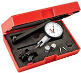 "Starrett 12305 Dial Test Indicator with Dovetail Mount and 4 Attachments 2 Extra Contacts, White Dial, 1.25"" Diameter,"