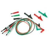 Megger 1007-155 Standard Test Lead Set, Silicone, 9.5 Plug (Red/Black/Green)