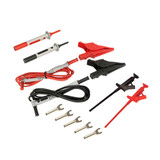 Lead – Utility Test Lead Kit #3 {includes: Set of 2, 5 ft color-coded (Red/Black) Silicone Insulated Safety Leads