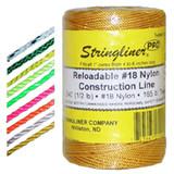 U.S. Tape  25491  Black / Orange-Bonded  STRINGLINER PRO REELS  500ft.(1/2lb.)BRAIDED