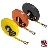 "U.S. Tape  58633  LONG TAPES  Yellow case  ft/in/8ths/m/cm  3/8"" x 100'/30m"