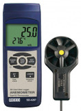 REED Instruments SD-4207 ANEMOMETER/THERMOMETER, ROTATING VANE, DATA LOGGER