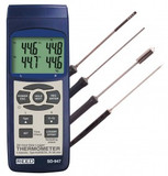REED Instruments SD-947DELUXE THERMOMETER, THERMOCOUPLE, 4-CH INCLUDES 4 PROBES, KIT
