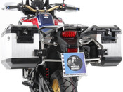 HONDA CRF1000 Africa Twin Hepco & Becker Cut-Out Pannier Frames with Panniers (stainless steel)