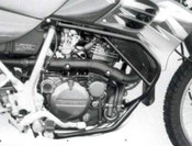 KAWASAKI KLR 650 (1995-) Hepco & Becker Lower Crash Bars (black)