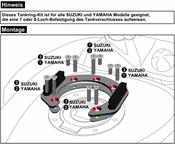 SUZUKI DL 650 / 1000 V-Strom Hepco & Becker Lock It Tank Ring