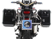 Honda CRF1000L Africa Twin Adventure Sports Hepco & Becker Cut-Out Side Pannier Frames (stainless steel) with Xplorer Panniers (black)
