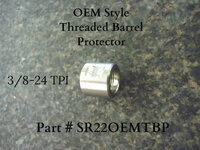 This Thread protector is for Twin Tech barrels only and will not fit Ruger factory barrels.