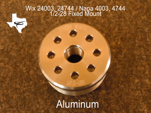 """1/2""""-28 Threads per inch muzzle end filter cap. (Aluminum) These parts are for 1 7/8""""-16 threaded tubes only and will not fit metric tubes."""