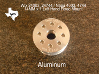 """M14 x 1mm pitch  Left Hand Thread (Aluminum) These parts are for 1 7/8""""-16 threaded tubes only and will not fit metric tubes."""