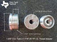 """1 7/16""""-20 x 1/2""""-28 (D) size Tube Adapter"""