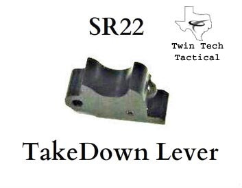 Twin Tech Tactical has designed, and is manufacturing a fully machined polymer takedown lever to replace the weak factory piece. This takedown lever is far superior to the Ruger injection molded part in two ways.  First our parts are fully machined from a billet block of a super strong, high impact resistant polymer. This process insures that there are no defects in the material, such as hotspots, porosity, or cooling cracks that are inherent on the Ruger injection molded piece. Second our parts have more impact surface area as you can see by the comparison photos.