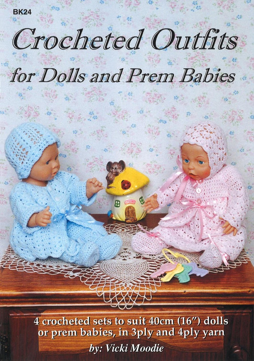 Image for Craft Moods book BK24 Crocheted Outfits for Dolls and Prem Babies by Vicki Moodie.