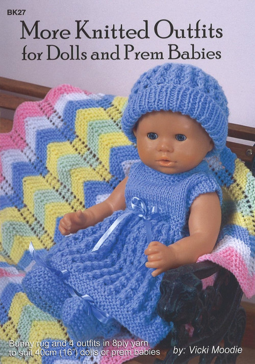 Image of Craft Moods book BK27 More Knitted Outfits for Dolls and Prem Babies by Vicki Moodie.