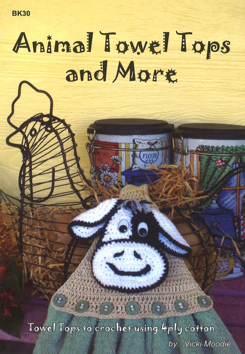 Image of Craft Moods book BK30 Animal Towel Tops and More by Vicki Moodie.