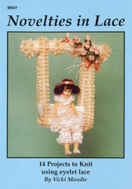 Image of Craft Moods book BK07 Novelties in Lace by Vicki Moodie.