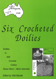 Image of Paragon book PARC129, Six Crocheted Doilies, edited by Vicki Moodie.