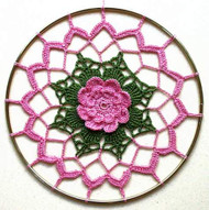 CMPATC013 - Pink Rose Sun-Catcher