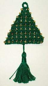 CMPATC026 - Christmas Tree Ornament - Beaded Tree
