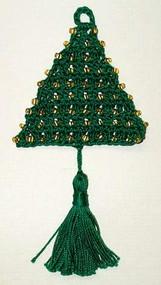 CMPATC026 - Christmas Tree Ornament - Beaded Tree