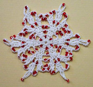 CMPATC028 - Christmas Tree Ornament - Beaded Snowflake