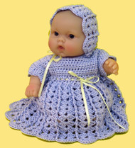 "CMPATC063 Shell & Post Outfit for 8"" Berenguer Chubby Doll"