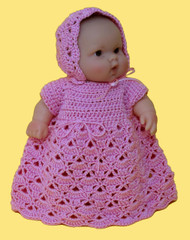 "CMPATC064 Shell Pattern Outfit for 8"" Berenguer Chubby Doll"